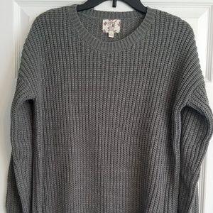 Long gray Hippie Rose sweater